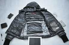 Tech-Accommodating Winter Jackets - The 'GIGA' Jacket Boasts 16 Highly Functional Features