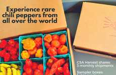 Chili Pepper Subscription Boxes - The Chili Pepper Harvest Box Contains Organically Grown Products