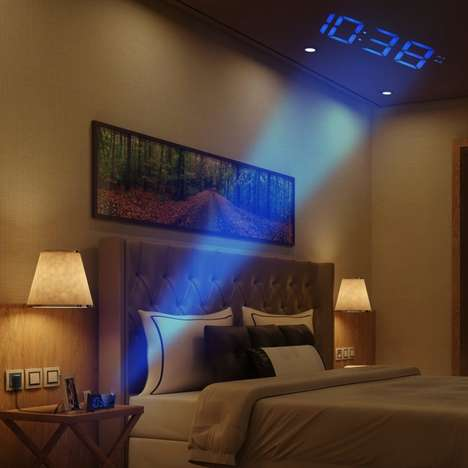 Phone-Charging Projection Clocks - This Projection Alarm Clock Projects the Time On Your Ceiling
