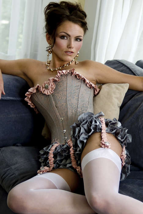 Vintage Silk Lingerie Collections - Angela Friedman's Corsages and Lingerie Wear is Luxe and Sensual
