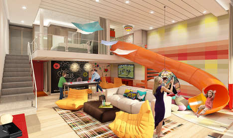 Familial Cruise Accommodations - Royal Caribbeans 'Ultimate Family Suite' Features an Indoor Slide