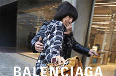 Paparazzi-Style Luxe Photoshoots - Balenciaga Recreates the Celebrity Struggle in its 2018 Lookbook
