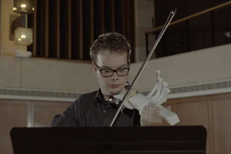 3D Printed Violins - College Student Sean Riley 3D Printed a Functioning Six String Violin