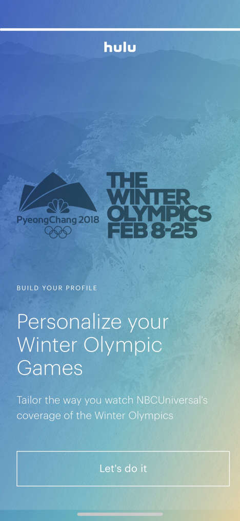 Customized Sports Streaming - Hulu Live TV Lets You Experience Personalized Olympics Coverage