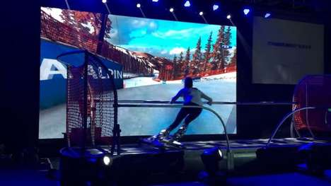 VR Ski Machines - The SkyTechSport Ski Simulator Uses Virtual Reality to Recreate the Slopes