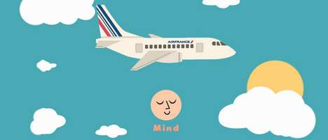 In-Flight Well-Being Apps - Air France and Mind Keep Travelers Relaxed and Happy During Flights
