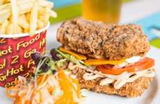 Bunless Vegan Sandwiches - Australia's The Cornish Arms Veganized KFC's Double Down Burger
