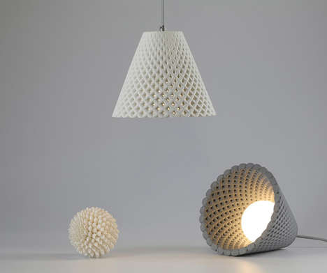 Florally Inspired Concrete Lighting