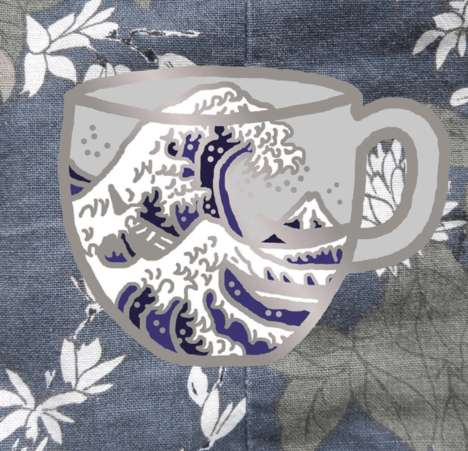 Tea-Inspired Enamel Pins