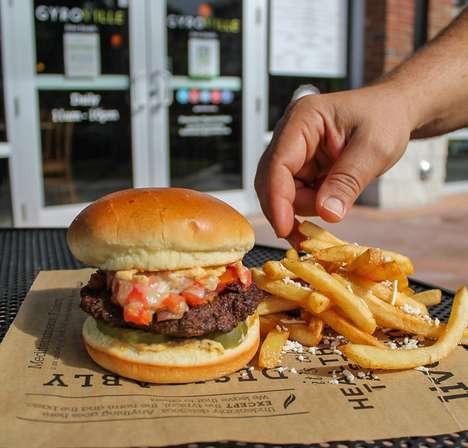 Vegetarian-Friendly Falafel Burgers