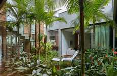 Tropical Modern Homes - David Guerra Creates a Jungle Out of Brazilian Courtyard