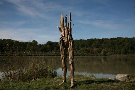 Driftwood-Constructed Figures