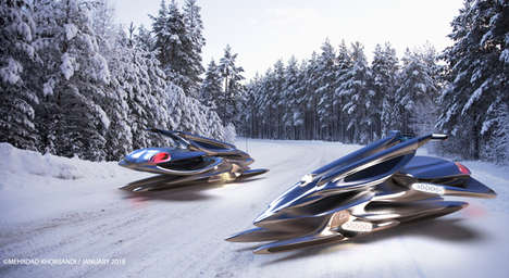 Efficient Maglev Snowmobiles