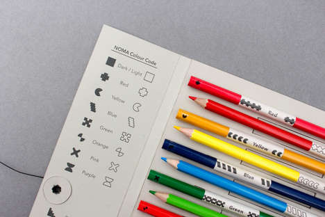 Assistive Colored Pencil Packaging