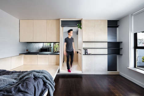 Intelligently Designed Micro Apartments - The George Micro Apartment Embraces Its Small Size