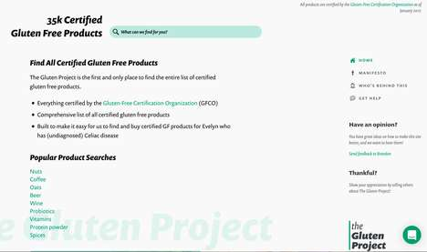 Gluten-Free Product Search Sites