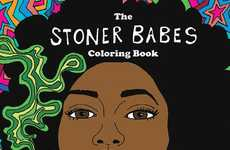 Female-Empowering Cannabis Coloring Books - Katie Guinn's Stoner Babe World is Dreamy and Gorgeous