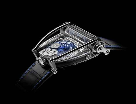 Lunar-Inspired Timepieces - This Luxury Wristwatch Features a Projected Moonphase Display