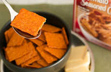 Crunchy Soup-Infused Crackers - The New Creamy Tomato Soup Seasoned Crackers Feature Baked-In Soup
