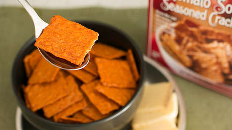 Crunchy Soup-Infused Crackers