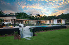 Minimalist Glass Homes - 'The Doonan Glasshouse' is a Modern Home Built in Australia