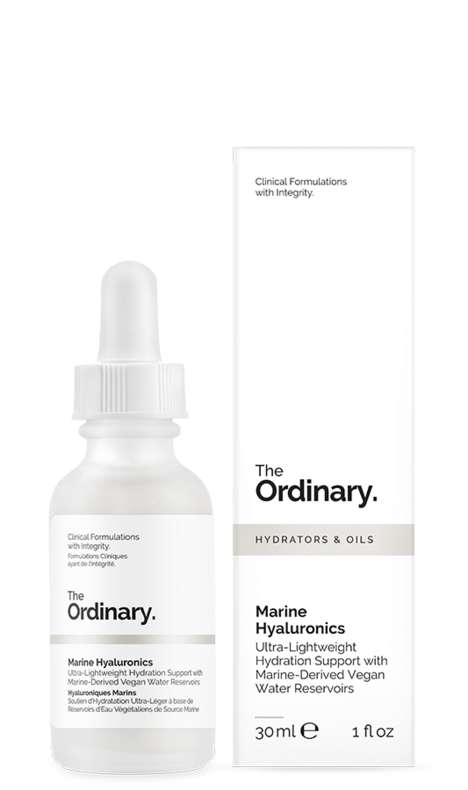 Hydrating Algae Skincare - The Ordinary 'Marine Hyaluronics' Features Vegan Hydrators and Oils