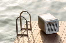 Demure Drink Cooler Speakers - The 'KUBE' Speaker Plays Music and Keeps Refreshments Cold