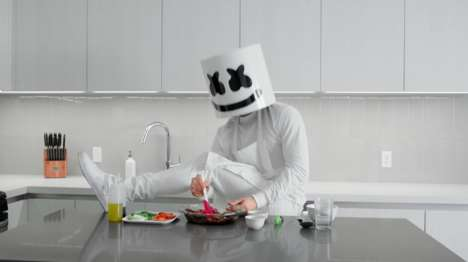 DJ-Starring Cooking Shows - 'Cooking with Marshmello' is a YouTube Series Led by DJ Marshmello
