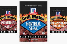 Seasoning-Branded Beef Jerkys - The Red Truck McCormick Grill Mates Beef Jerkys are Bold and Smoky