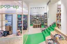Low-Cost Pop-Up Stores - Bookline Created a Dynamic Temporary Shop with Affordable Raw Materials