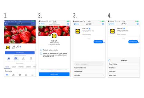 "Virtual Supermarket Sommeliers - Lidl's 'Margot' is a Helpful ""Winebot"" on Facebook Messenger"