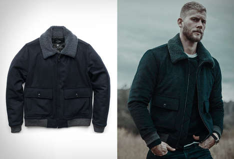 Wool-Crafted Bomber Jackets