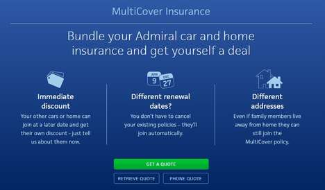 Flexible Insurance Bundles - The Admiral MultiCover Service Saves Consumers Time and Money