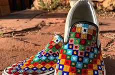 Hand-Beaded Skateboard Sneakers