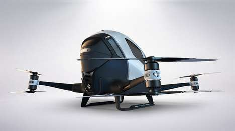 The Ehang 184 Flying Taxi Aims to Battle Pollution and Congestion