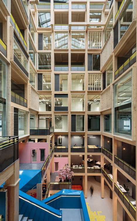 Atrium-Incorporating Workspaces