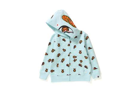 Aquatic-Themed Children's Hoodies
