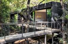 Floating Forest Homes - Wernerfield Architects Designed a Guesthouse in the Trees in Texas