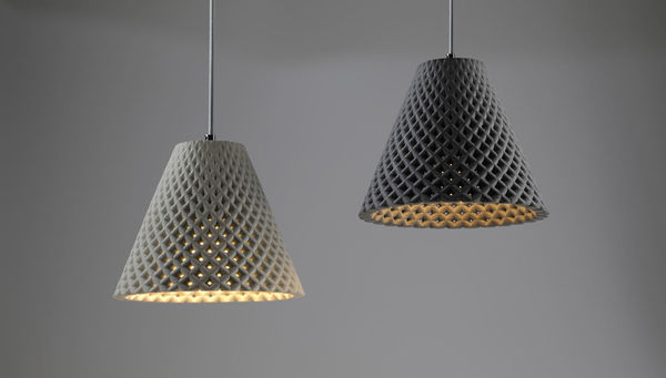 Concrete-Crafted Lamps