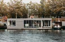 Energy-Neutral Floating Villas - Haarlem Shuffle is Located in the Spaarne River in North Holland