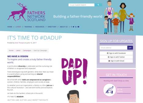 Paternity Leave-Driven Campaigns - The #DadUp Campaign Aims to Celebrate Nurturing Fathers