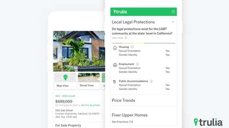 Informative Housing Apps - Trulia's New Feature Will Show Home in Areas with LGBT Protections