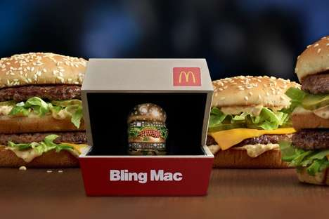 Gilded Fast Food Burgers - McDonald's is Giving Away a Big Mac Ring Dubbed the 'Bling Mac'