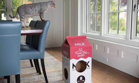 Purpose-Built Cardboard Cat Toys - 'Cat in the Box' Offers Toys for Cats Who Love Cardboard