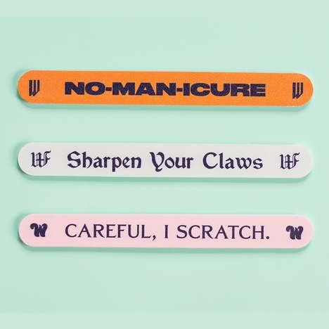 Feminist Nail Accessories - The Wing's No Man-icure Nail File Pack Embraces Empowering Humor