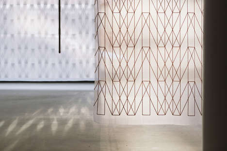 Translucent Geometric Curtain Patterns