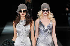Double Runway Models - Armani Uses the Buddy System for Fall