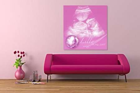 Ultrasounds as Modern Art - Personalized Fetus Posters For Narcissists in the Making