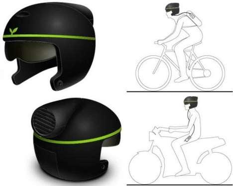 Gadget-Charging Helmets