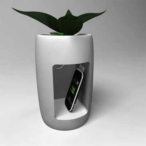 Flower Pot Gadget Chargers
